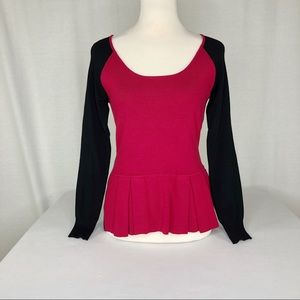 Central Park West Red & Black Sweater/Top, Small